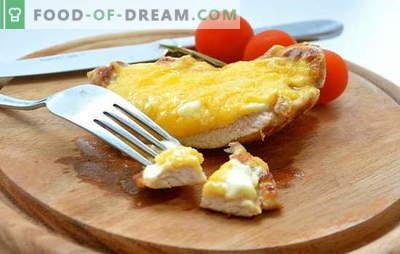 Le plus simple du complexe: recettes de viande cuite au fromage. Porc, poulet, viande de veau, cuite au four avec du fromage de différentes variétés - délicieux!