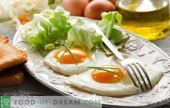 Œufs au plat œufs brouillés - un petit-déjeuner délicat. Comment faire cuire des œufs sur le plat dans une poêle, au four, au micro-ondes, dans le multicuiseur