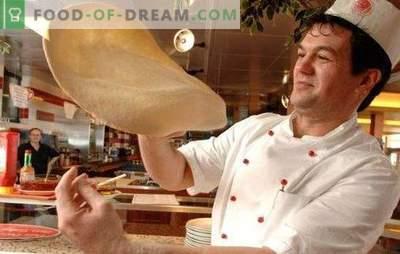 La pâte à pizza comme dans une pizzeria est une chose délicate, aime les mains des hommes! Caractéristiques de la pâte à pizza de pizzeria et les secrets de sa force