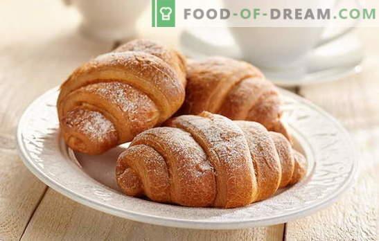 Croissants au lait concentré - tellement délicieux! Croissants avec recettes de lait condensé: à partir de levure, sablé, pâte au fromage blanc