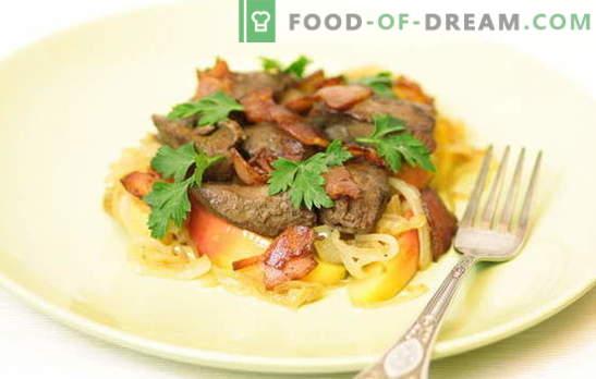 Foie de poulet aux oignons - cuisine pour les parents, les enfants et les petits-enfants! Une sélection des meilleures recettes de foie de poulet frit braisé avec oignons