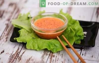 Зачинет сос - јапонска белешка на менито! Рецепти за топла зачинета сосови со пиперка, кимчи, капелин и кавијар за летање, мајонез, лук