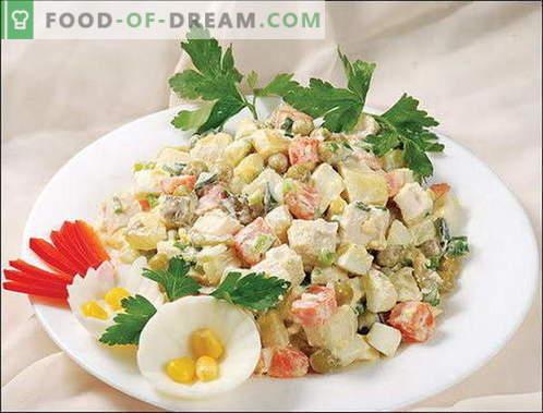 Salade d'hiver - les meilleures recettes. Comment cuire correctement et savoureux salade d'hiver.