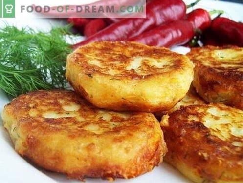 Les galettes de pommes de terre sont les meilleures recettes. Comment faire cuire des galettes de pommes de terre.