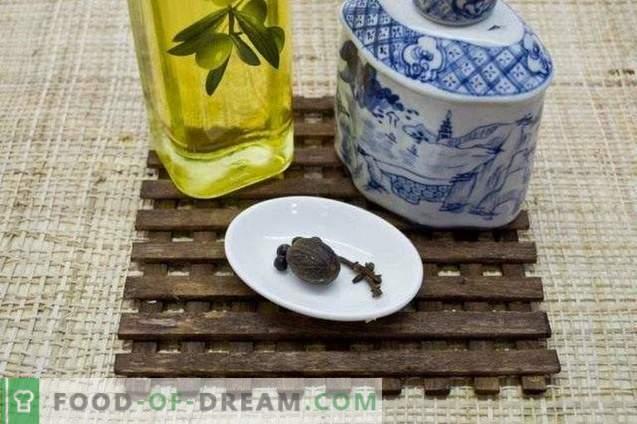 Céleri mariné à l'huile