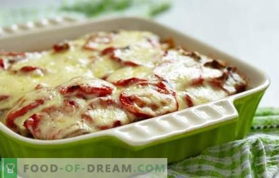 Casserole de pommes de terre avec de la viande hachée et des tomates - un plat juteux! Cuisson de simples casseroles de pommes de terre avec de la viande hachée et des tomates