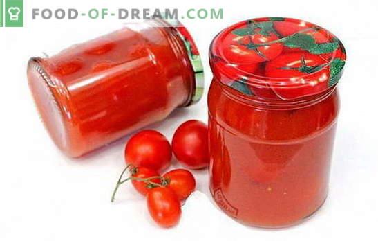 Tomates à la pâte de tomates - des recettes intéressantes pour une préparation intéressante. Comment faire cuire de délicieuses tomates en pâte de tomate