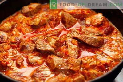 Goulache de boeuf - les meilleures recettes. Comment cuire correctement et savoureux goulash de boeuf.