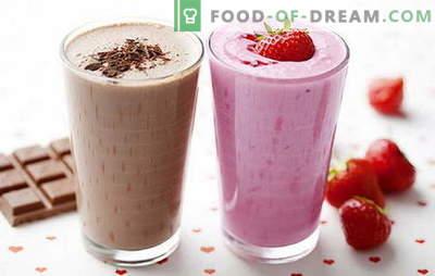 Recette de milk-shake à la maison: avec des baies, des fruits, du chocolat, des noix. Les meilleurs milkshakes sont ici!