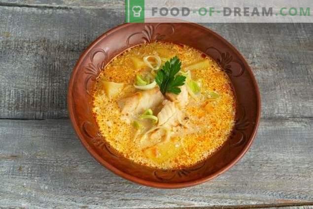 Zuppa di pesce pollock leggero