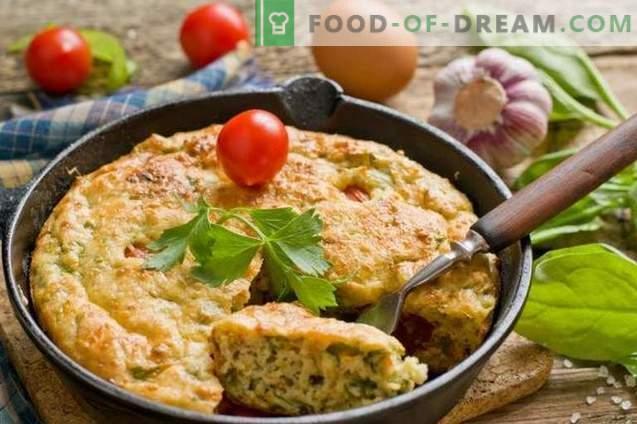 Omelette au caillé et aux épinards