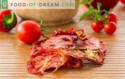 Comment préparer des tomates séchées: de toutes les manières. Des recettes intéressantes avec des tomates séchées