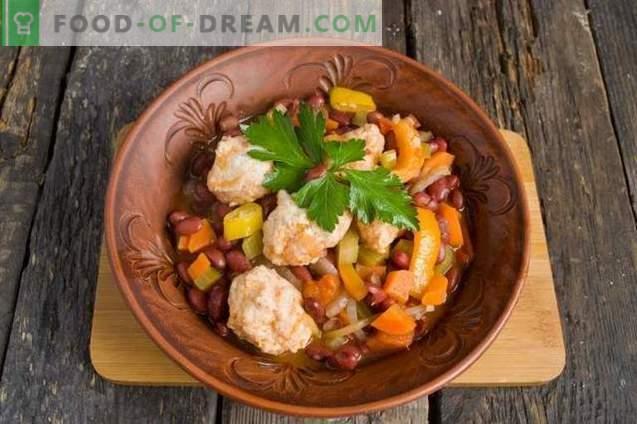 Ragoût de légumes aux boulettes de poulet