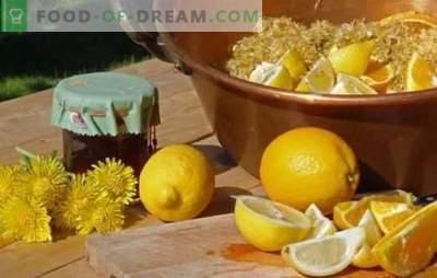Confiture de pissenlit au citron - une douceur utile! Variantes de confiture de pissenlit au citron, mandarine, menthe, pomme, grenade