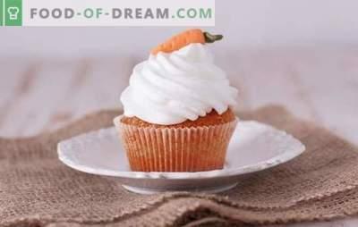 Muffins aux carottes - des pâtisseries savoureuses et saines. Une sélection des meilleures recettes de muffins aux carottes, sucrés et salés