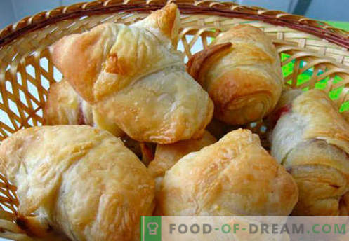 Les bagels à la pâte feuilletée - les meilleures recettes. Comment bien et savoureux faire des bagels feuilletés.