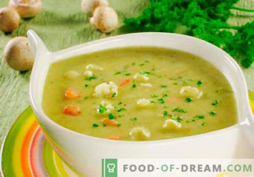 Potage au fromage à la crème - recettes éprouvées. Comment bien cuire la soupe avec du fromage fondu.