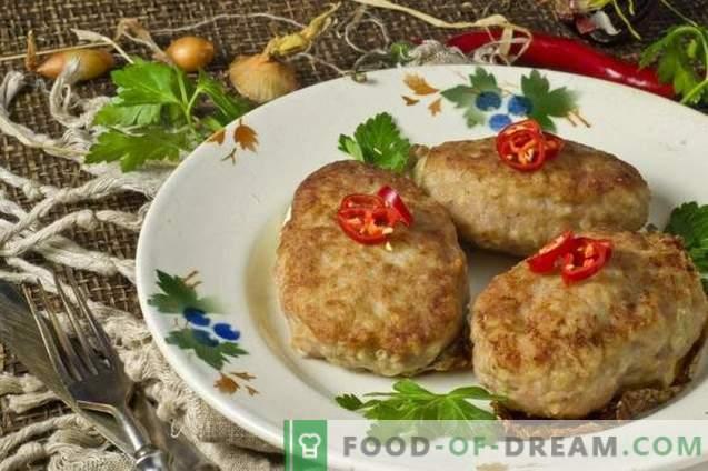 Côtelettes de porc juteuses avec pommes de terre