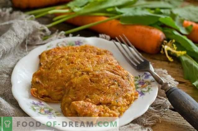 gâteaux au fromage caillé aux carottes