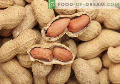Arachides - description, propriétés, utilisation en cuisine. Recettes aux cacahuètes.