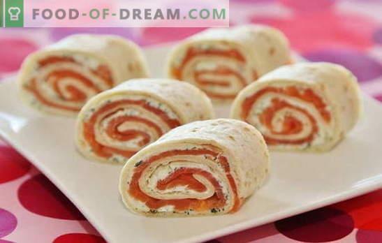 Le pain Lavash au saumon est un plat idéal pour les vacances et les jours de semaine. Recettes et subtilités pour créer un délicieux rouleau de pita au saumon