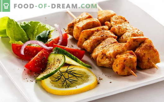 Chicken Kebab - die besten Rezepte. Wie man Hühnchenspieße kocht.
