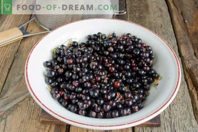 Черен касис със захар за зимния