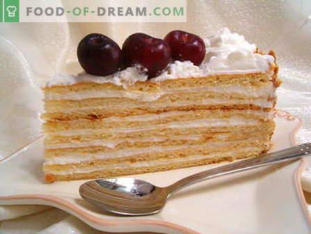 Gâteau à la crème sure - les meilleures recettes. Comment bien et savoureux cuire la crème sure.
