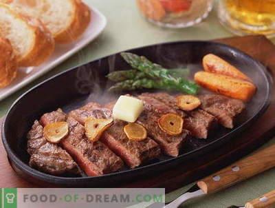 Viande frite - les meilleures recettes. Comment cuire correctement et savourer la viande rôtie.