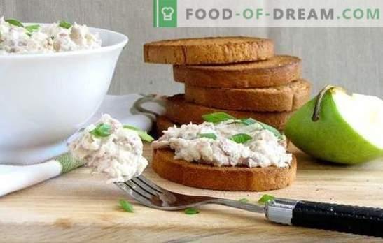Forshmak à partir de hareng: recettes classiques pour des snacks parfumés. Cuire du poisson à partir de hareng selon des recettes classiques avec des pommes, des œufs, des oignons