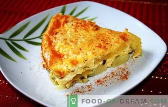 Casserole de pommes de terre au fromage - un plat pour tous les jours. Recettes Casserole de pommes de terre au fromage: avec viande, poulet, mayonnaise