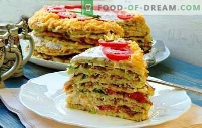 Gâteau à la courge avec du fromage - ceci est une collation! Recettes pour différentes galettes de courgettes au fromage et aux tomates, poisson, viande hachée