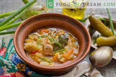 Solyanka avec pommes de terre et orge perlé