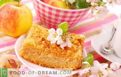 Tarte aux pommes au curd - étonnamment facile! Recettes étonnantes tartes aux caillés aux pommes; tendre et juteux