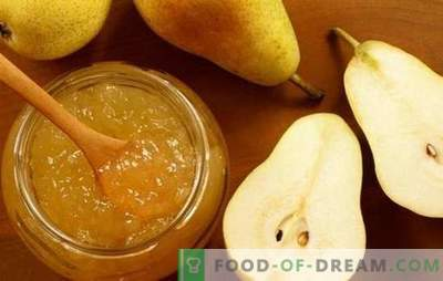 Recettes nouvelles et traditionnelles pour la gelée de poires. Délicieuse gelée de poires à la gélatine pour l'hiver, sans sucre, des desserts originaux au goût inhabituel