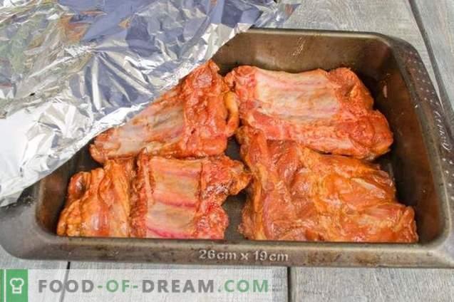 Côtes de porc au four avec sauce au miel