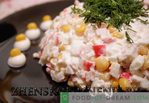 Salade de crabe - Recette avec photos et description étape par étape