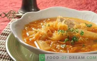 Soupe à base de choucroute dans une mijoteuse avec bœuf, porc, dinde. Comment faire cuire une soupe de choucroute dans une cocotte