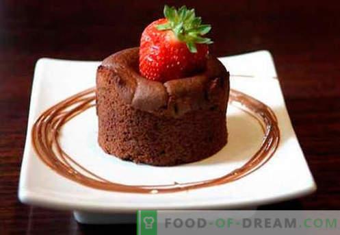 Soufflé au chocolat - les meilleures recettes. Comment cuire rapidement et savourer un soufflé au chocolat.
