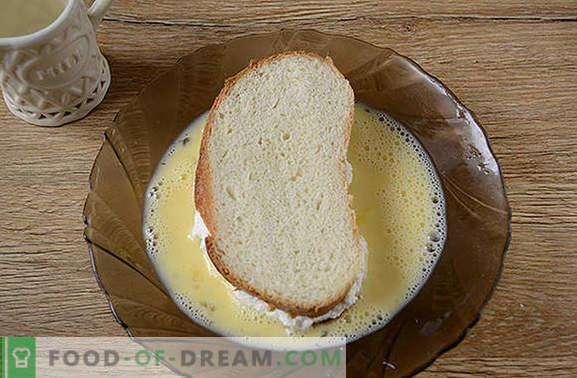 Croûtons au fromage blanc - une approche créative du petit-déjeuner! Une version rapide d'un beignet au fromage cottage ou d'un gâteau au fromage: des croûtons frits avec du fromage cottage