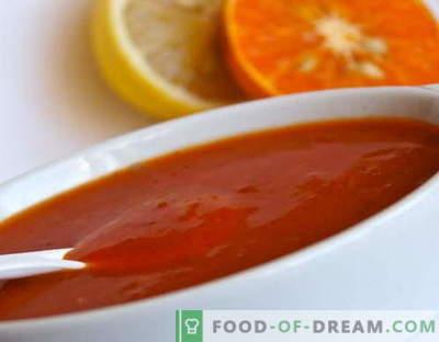 Sauce aigre-douce - les meilleures recettes. Comment bien et savoureux faire cuire la sauce aigre-douce.