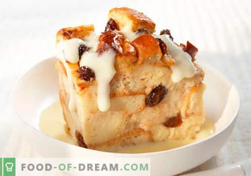 Pudding à la vanille - les meilleures recettes. Comment cuire correctement et savoureux pudding à la vanille.