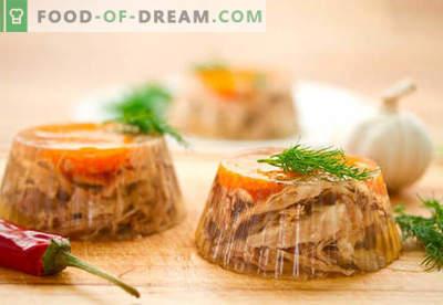 Viande d'aspic - les meilleures recettes. Comment bien cuire et remplir la viande.