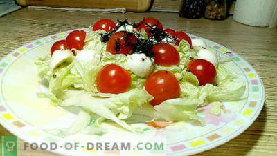 20 best Beijing cabbage salad recipes, cooking rules