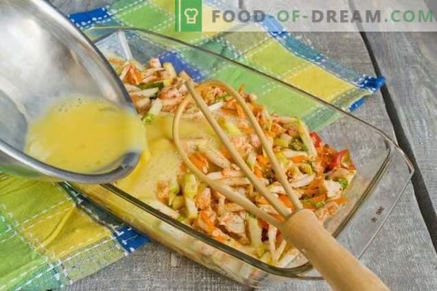 Casserole de courgettes au poulet - sans farine ni calories supplémentaires