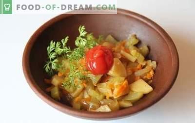Pommes de terre aux courgettes dans une mijoteuse - rapide et savoureuse. Recettes pour la cuisson de pommes de terre aux courgettes dans une cocotte minute: végétarien et viande