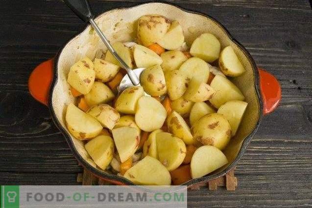 Ragoût de légumes au poulet et coquilles Saint-Jacques