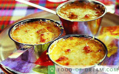 Superbes juliens faits maison au poulet et aux champignons, recettes à la cocotte, casseroles, plaques à pâtisserie