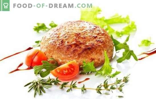 Les galettes de viande hachée (recette pas à pas) sont des mets éprouvés. Galettes de viande hachée: Une recette étape par étape pour la version classique et avec du fromage