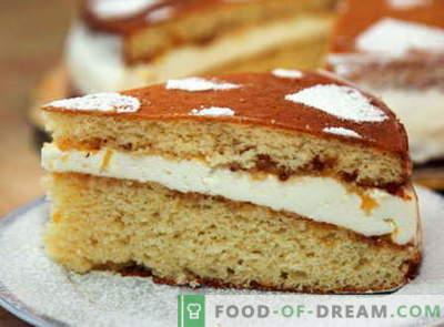 Gâteau éponge - les meilleures recettes. Comment bien et savoureux cuire le gâteau éponge.